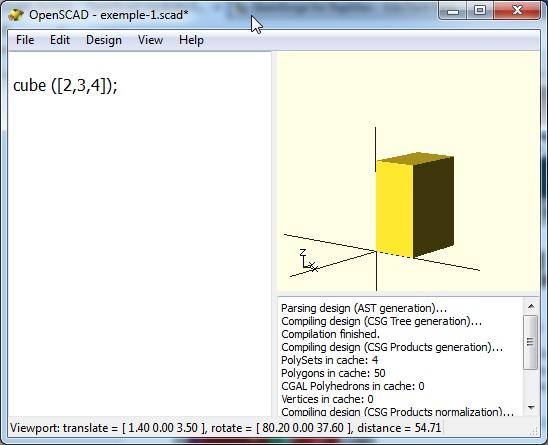 OpenSCAD screenshot