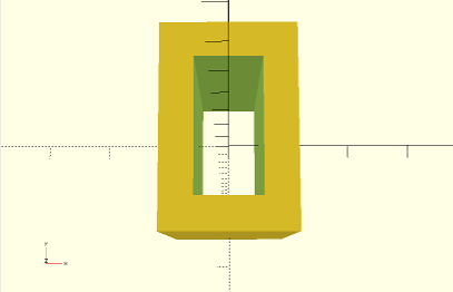 Another OpenSCAD screenshot showing example of the difference operation