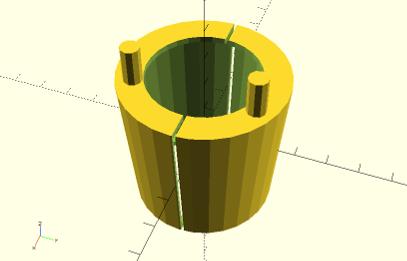 OpenSCAD screenshot showing the part I designed