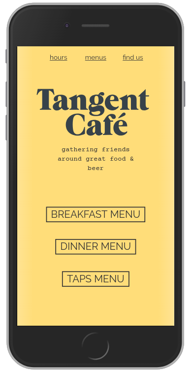 Screenshot of tangentcafe.ca